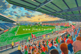 excelsior  stadium  on matchday a3 size print